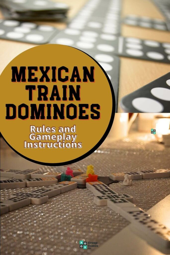 playing mexican train dominoes image
