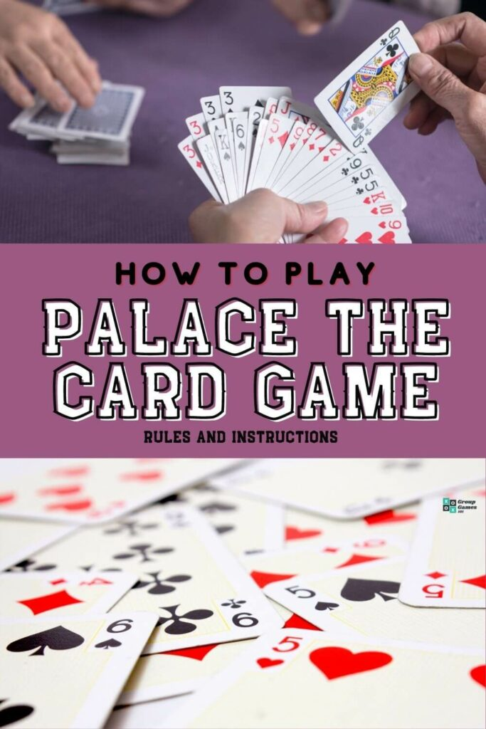 Palace card game rules playing image