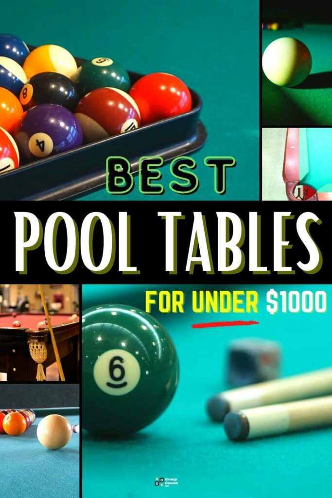 best pool tables for under $1000_playing image
