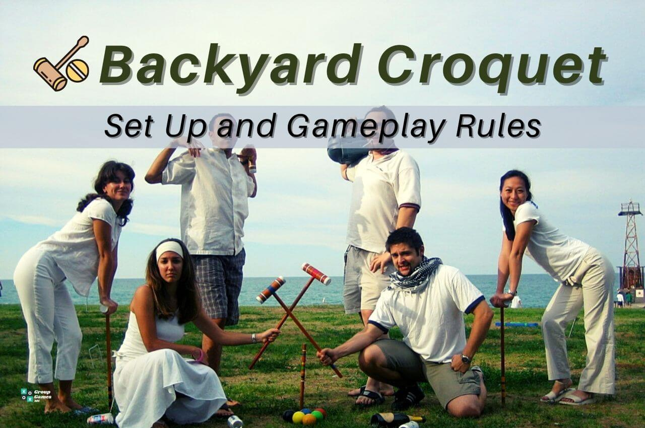 backyard Croquet set up and rules image
