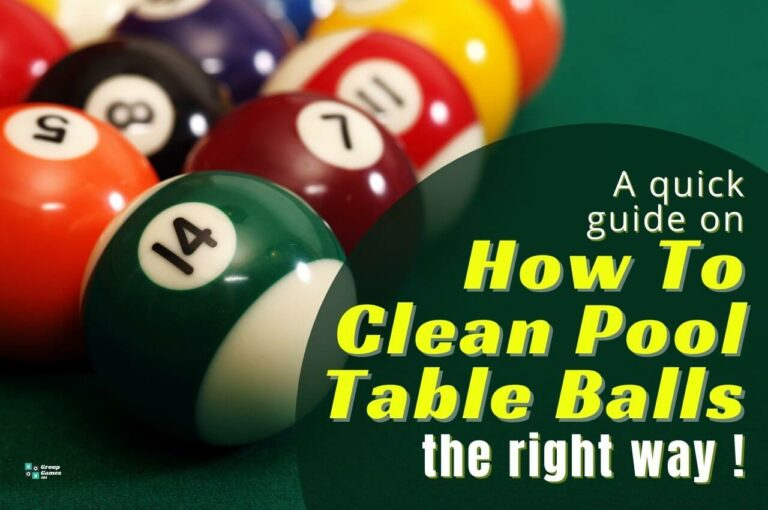 how to clean pool table balls image