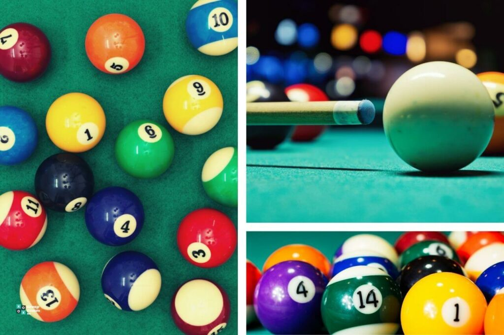 how to clean pool table balls on table image