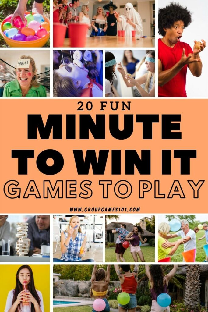 minute to win it games Pinterest Image